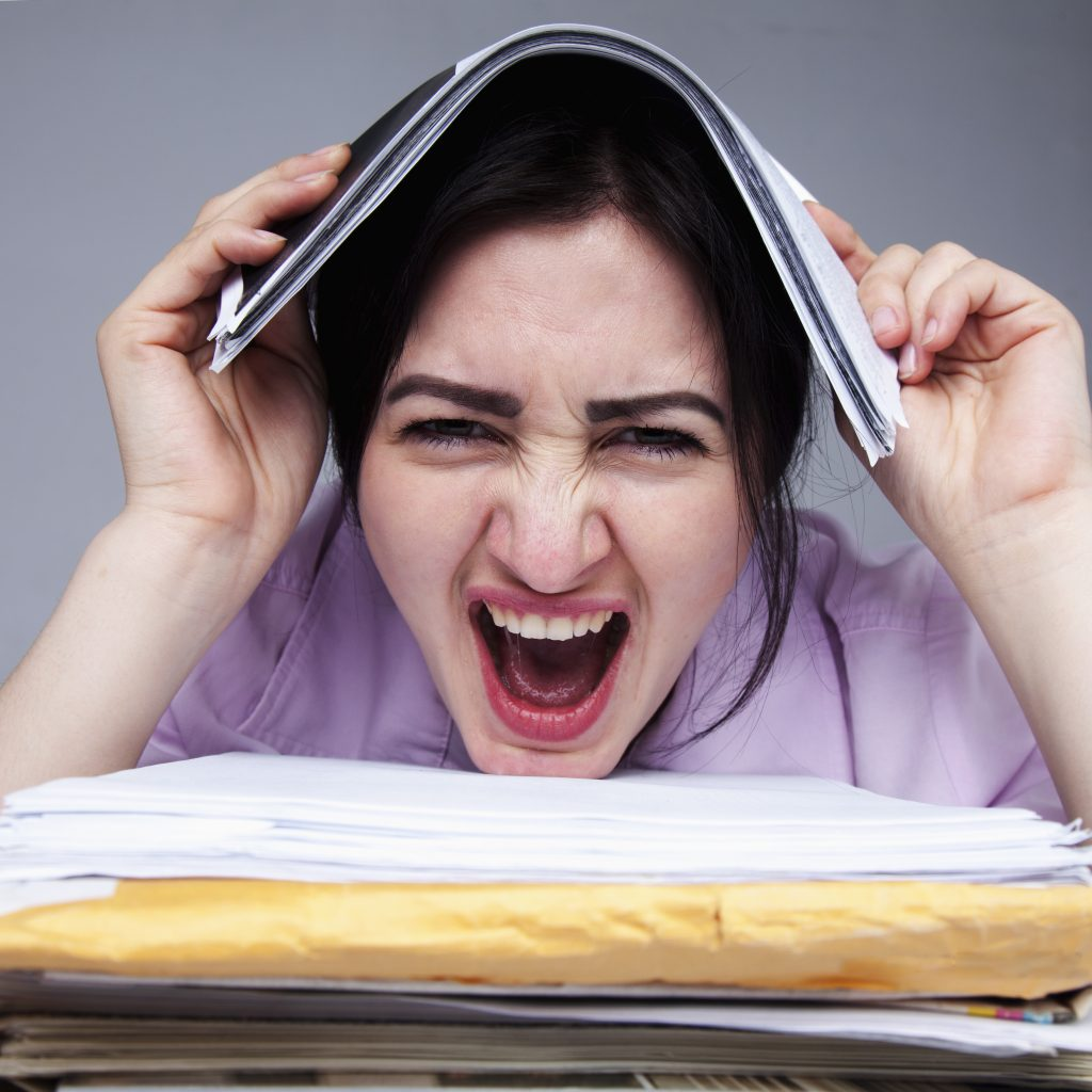 Frau hasst Ihren Job